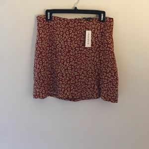 Kendall & Kylie leopard print mini skirt